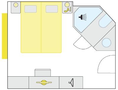 Plán kajuty typu S