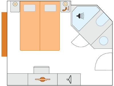 Plán kajuty typu A