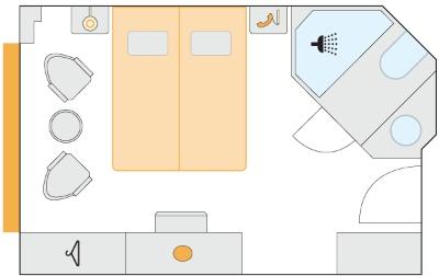 Plán kajuty typu C